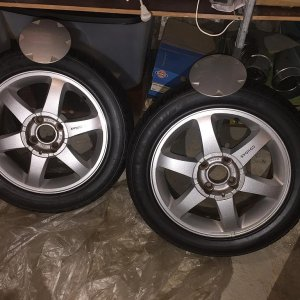 4 x 99 Cougar Alloys, No Winters, Dry Storage 11 years